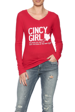 Great to Be Here Tees V-Neck Cincy Tee - Product List Image