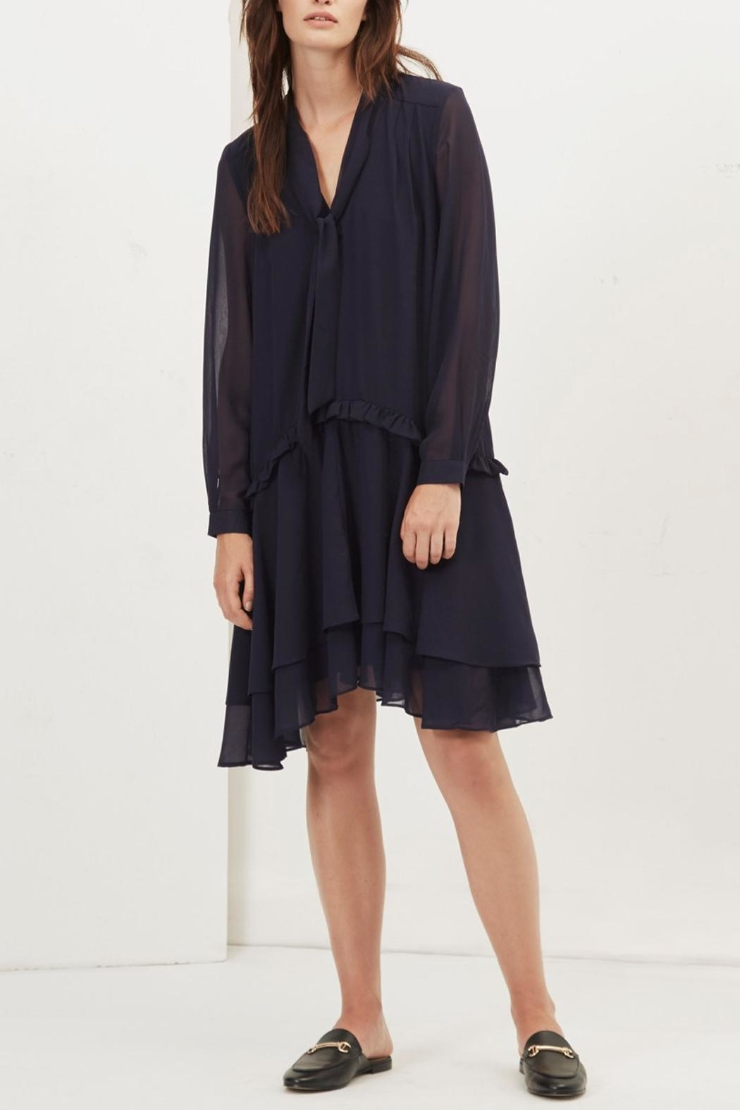 Great Plains Chiffon Ruffle Dress - Side Cropped Image