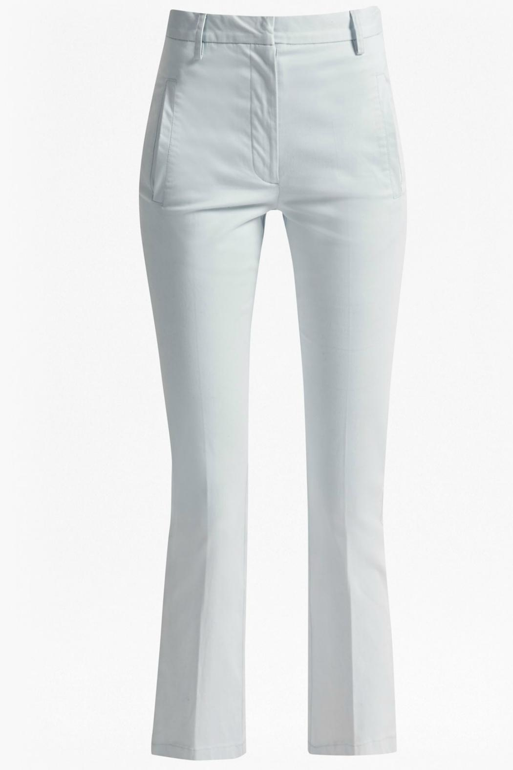 Great Plains Blue Flared Trousers - Back Cropped Image