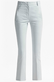 Great Plains Blue Flared Trousers - Back cropped