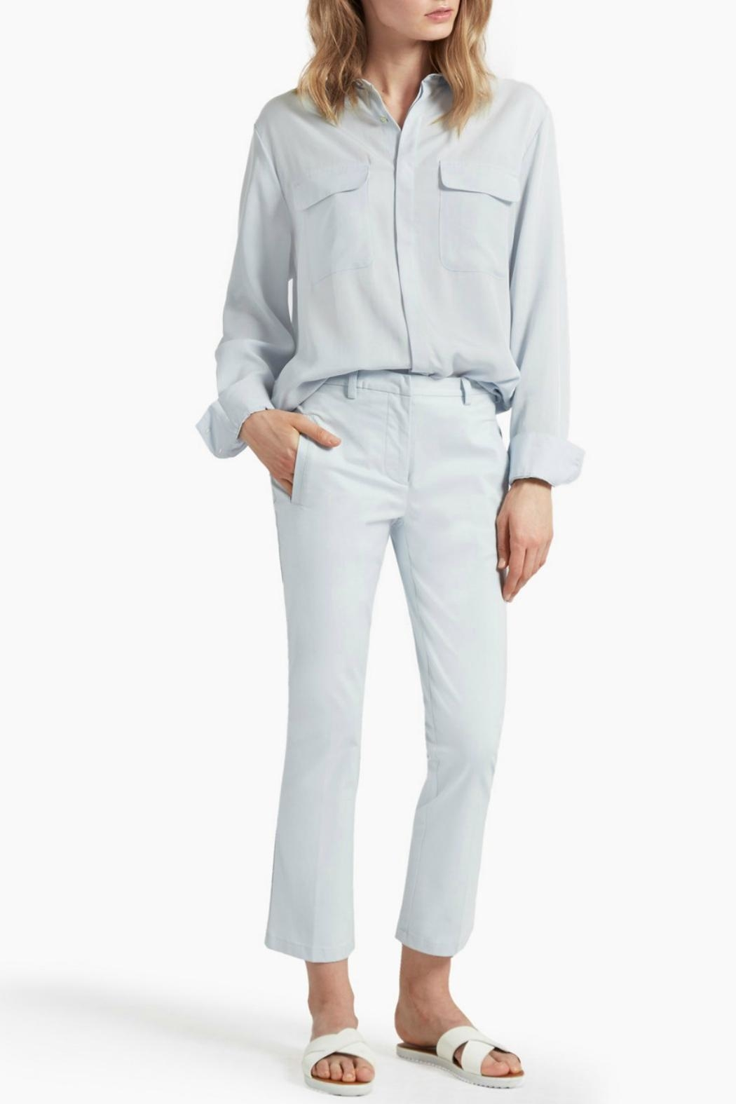 Great Plains Blue Flared Trousers - Main Image