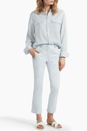 Great Plains Blue Flared Trousers - Front cropped