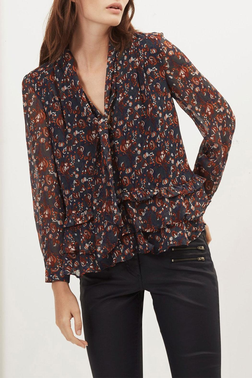 Great Plains Highland Tassle Blouse - Front Full Image