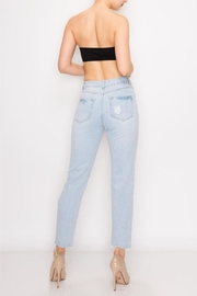Great Smoky Bleached Ripped Mom Jean - Side cropped