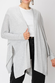 Double Zero Greay Open Cardigan - Product Mini Image