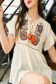 Cashmere N Tee Grecia Embroidered Blouse - Product Mini Image