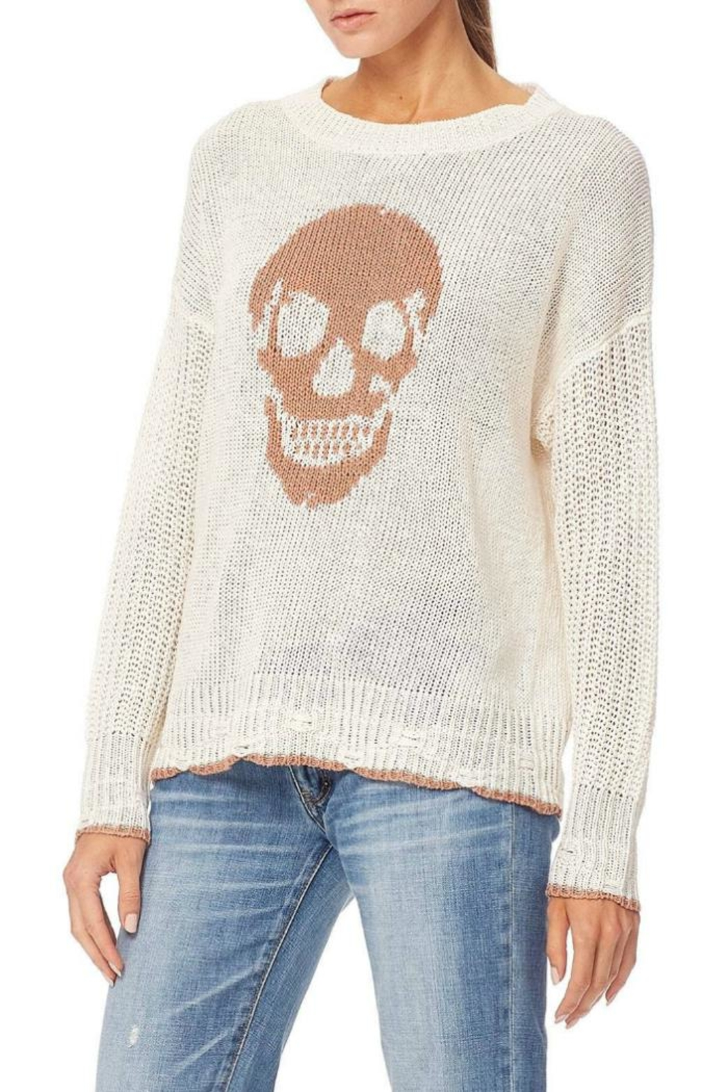 Skull Cashmere Grecia Knit Sweater - Side Cropped Image
