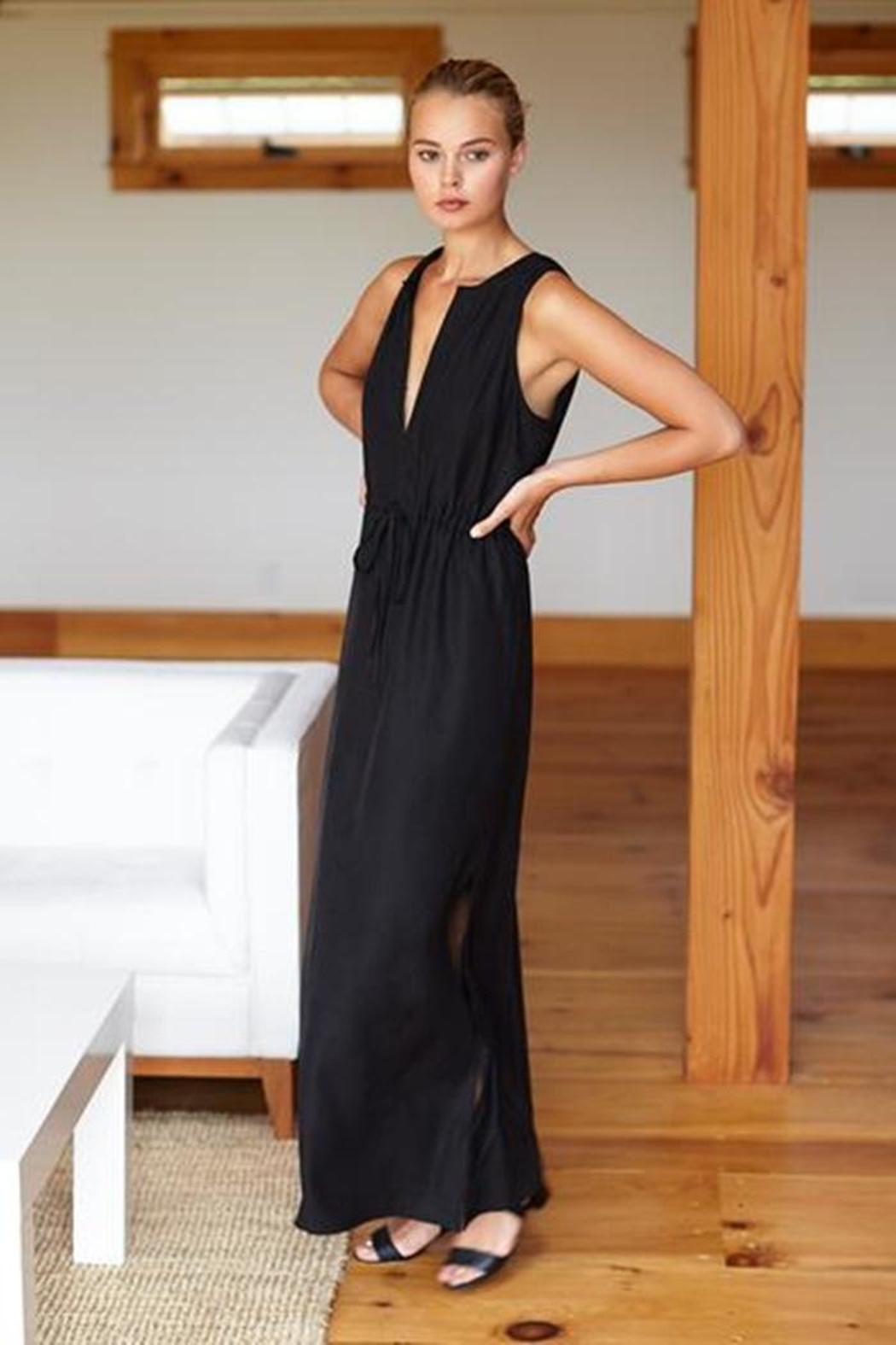 Emerson Fry Grecian Keyhole Dress - Front Full Image
