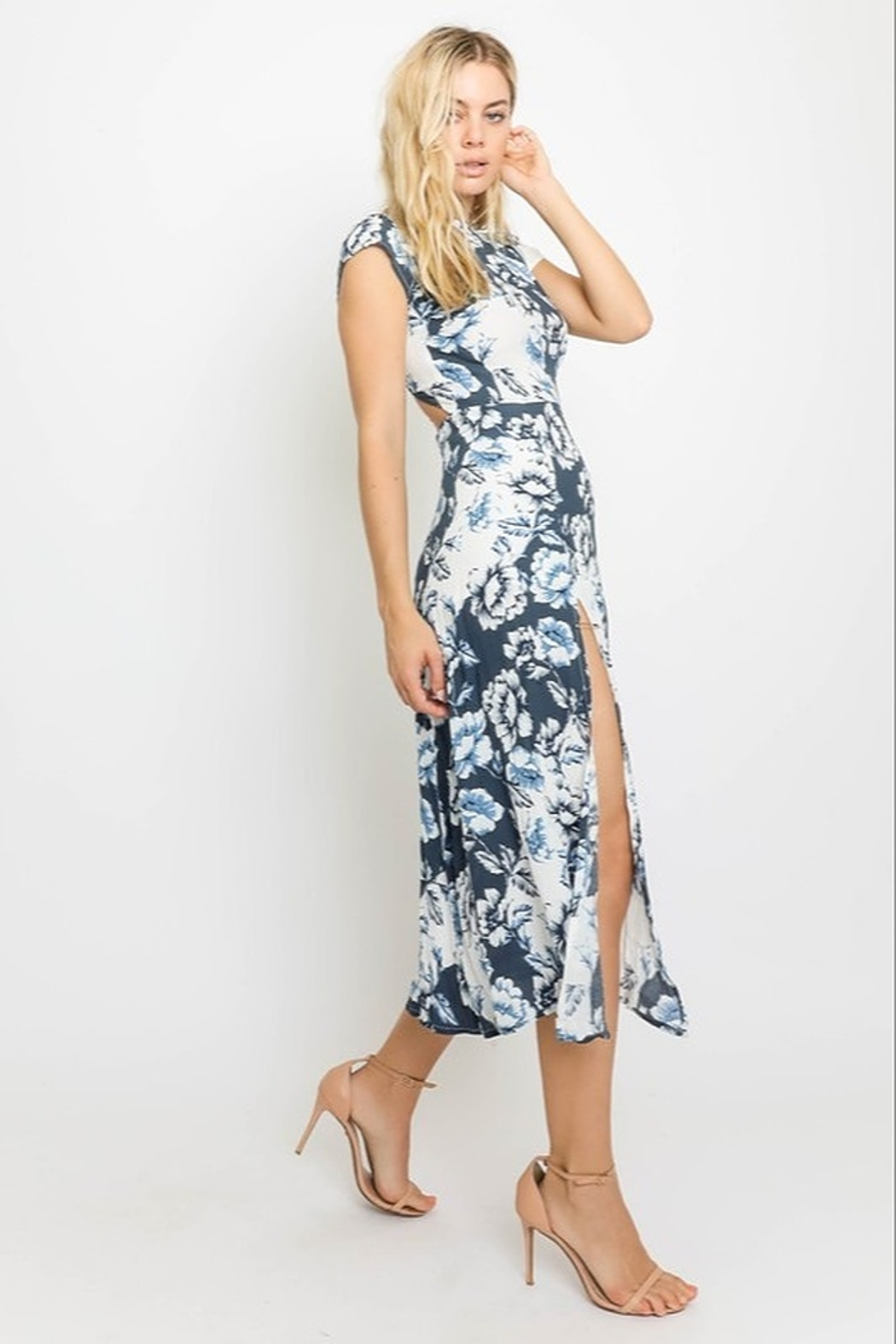 Olivaceous  Greek Isles Midi Dress - Side Cropped Image