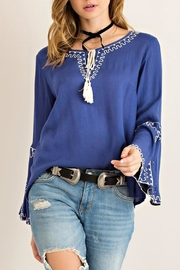 Entro Greek Peasant Top - Front cropped