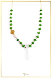 Malia Jewelry Green-Agate Quartz Necklace - Product Mini Image