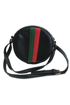 Shoptiques Product: Green and Red Stripe Circle Crossbody