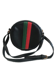 gift girl  Green and Red Stripe Circle Crossbody - Front cropped