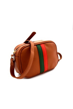 Gift Girl Green and Red Stripe Crossbody - Alternate List Image