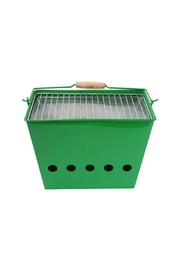 Present Time Green Barbecue Grill - Front cropped
