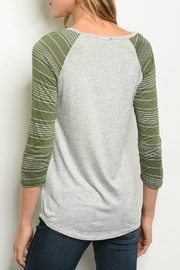 Sweet Claire Green Baseball Tee - Product Mini Image