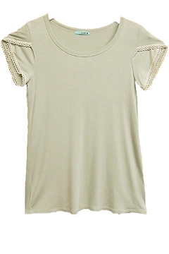 P.S Kate Green Beige-Lace Top - Product List Image