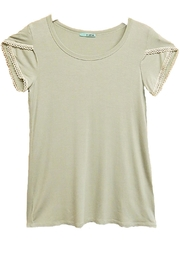 P.S Kate Green Beige-Lace Top - Product Mini Image