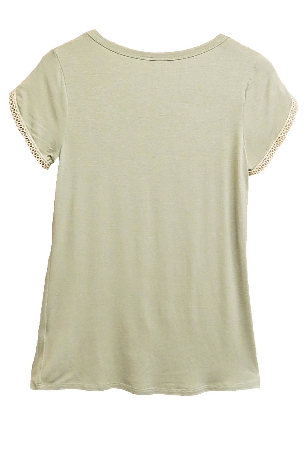 P.S Kate Green Beige-Lace Top - Front Full Image