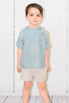 cesar blanco Green & Beige Outfit - Product List Image