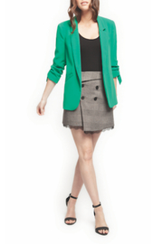 Black Tape/Dex Green Blazer w Ruched Sleeves - Product Mini Image