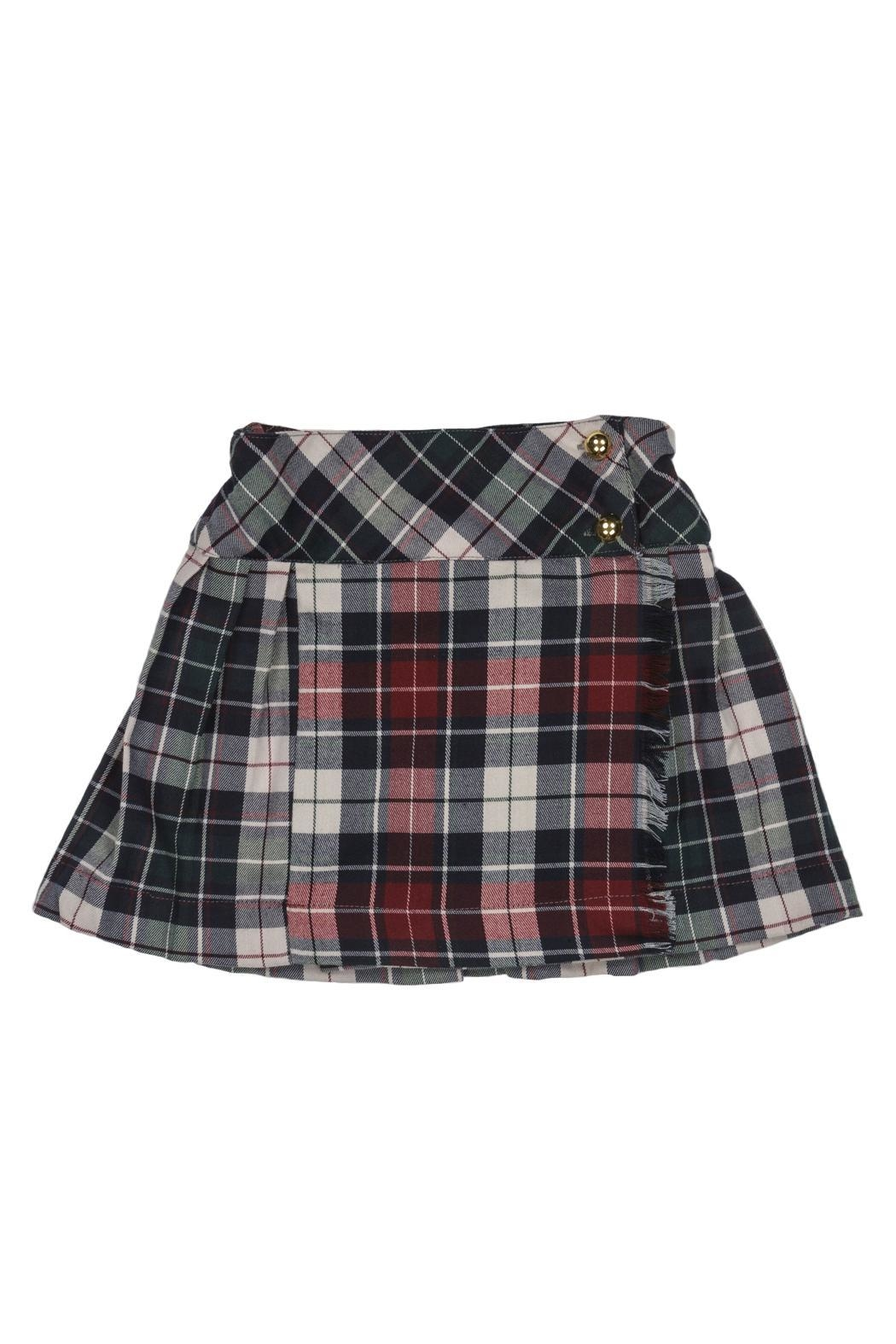 Malvi & Co. Green Bordeaux Kilt. - Front Cropped Image