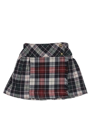 Malvi & Co. Green Bordeaux Kilt. - Front cropped