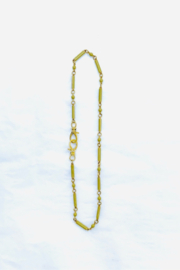 The Woods Fine Jewelry  Green/Brass Med Enamel Chain - Product Mini Image