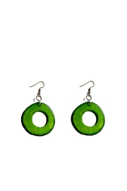 Love's Hangover Creations Green Colombian Earrings - Product Mini Image