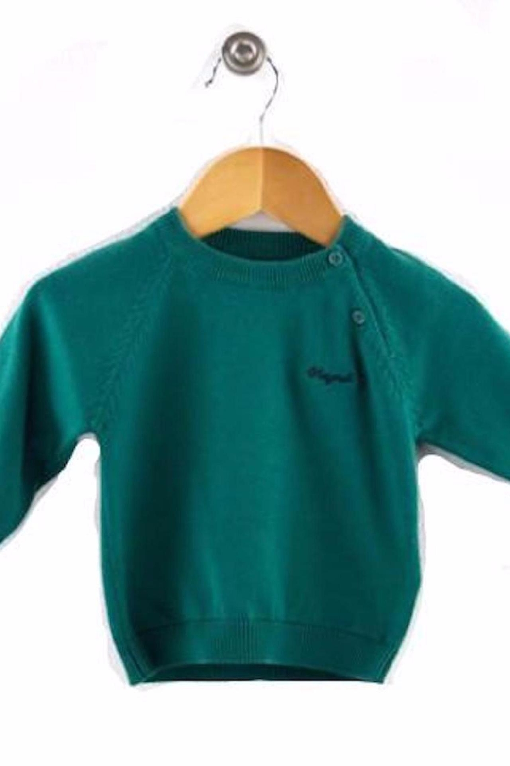 Mayoral Green Cotton Sweater - Main Image