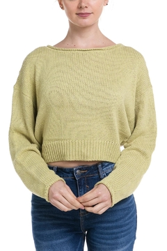 Shoptiques Product: Green Crop Sweater