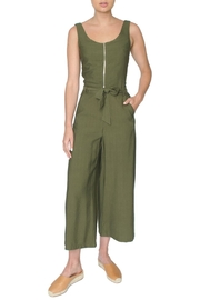FRNCH Green Cropped Jumpsuit - Product Mini Image
