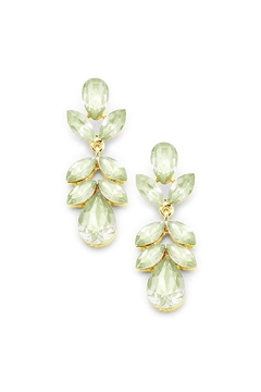 Wild Lilies Jewelry  Green Crystal Earrings - Alternate List Image