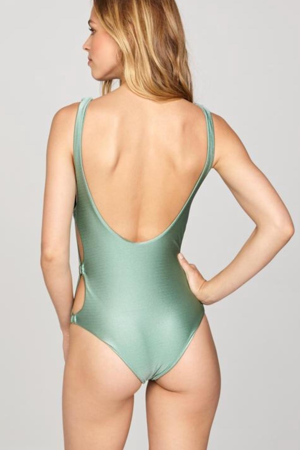 AMUSE SOCIETY Green Cutout Swimsuit - Front Full Image