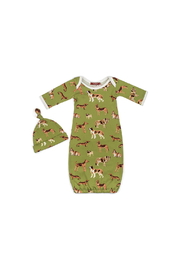 Milkbarn, LLC Green Dog Gown & Hat Set - Product Mini Image