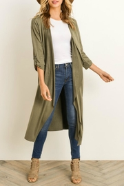 Gilli Faux Suede Duster - Product Mini Image