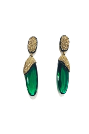 Lets Accessorize Green Drop Earrings - Product Mini Image