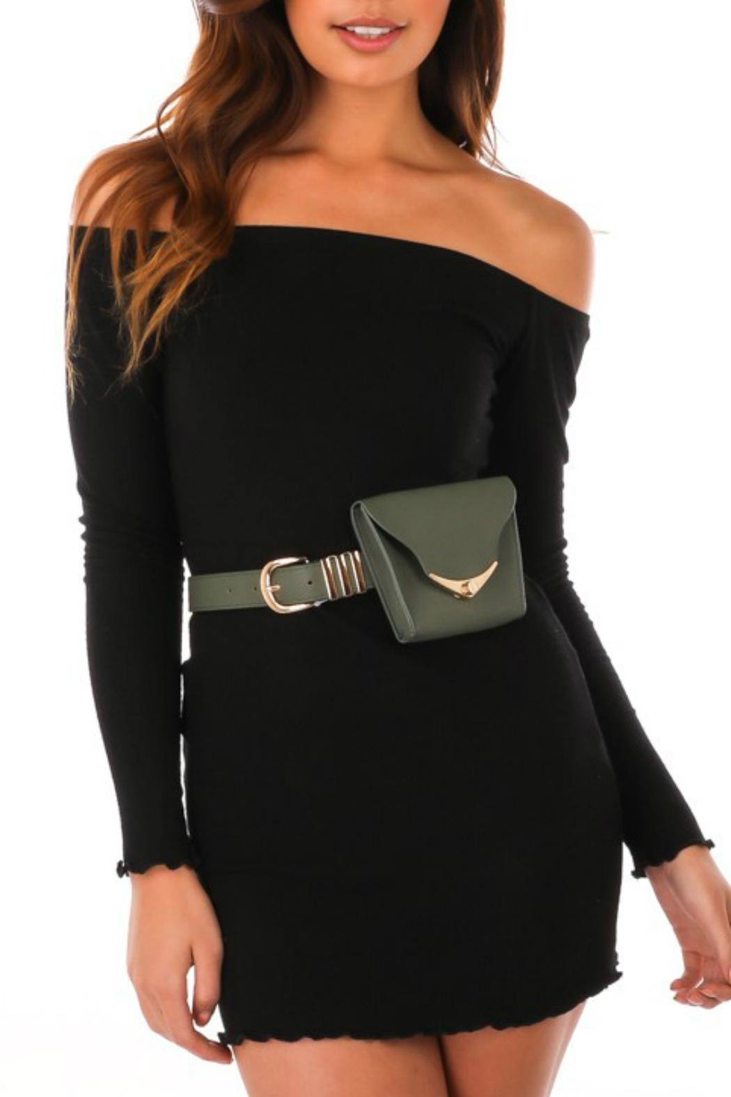 Minx Green Fanny Belt - Front Cropped Image
