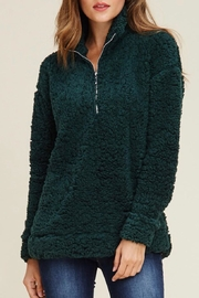 LuLu's Boutique Green Fleeced Pullover - Product Mini Image