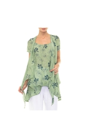 Alison Sheri Green Floral Blouse - Product Mini Image