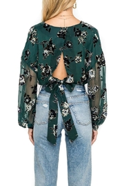 ASTR Green Floral Blouse - Side cropped