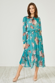 Urban Touch Green Floral Dress - Product Mini Image