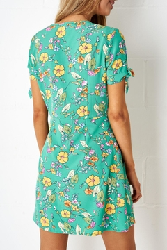 frontrow Green-Floral Shift Dress - Alternate List Image