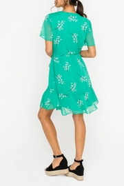 Lush Green Floral Wrap - Front full body