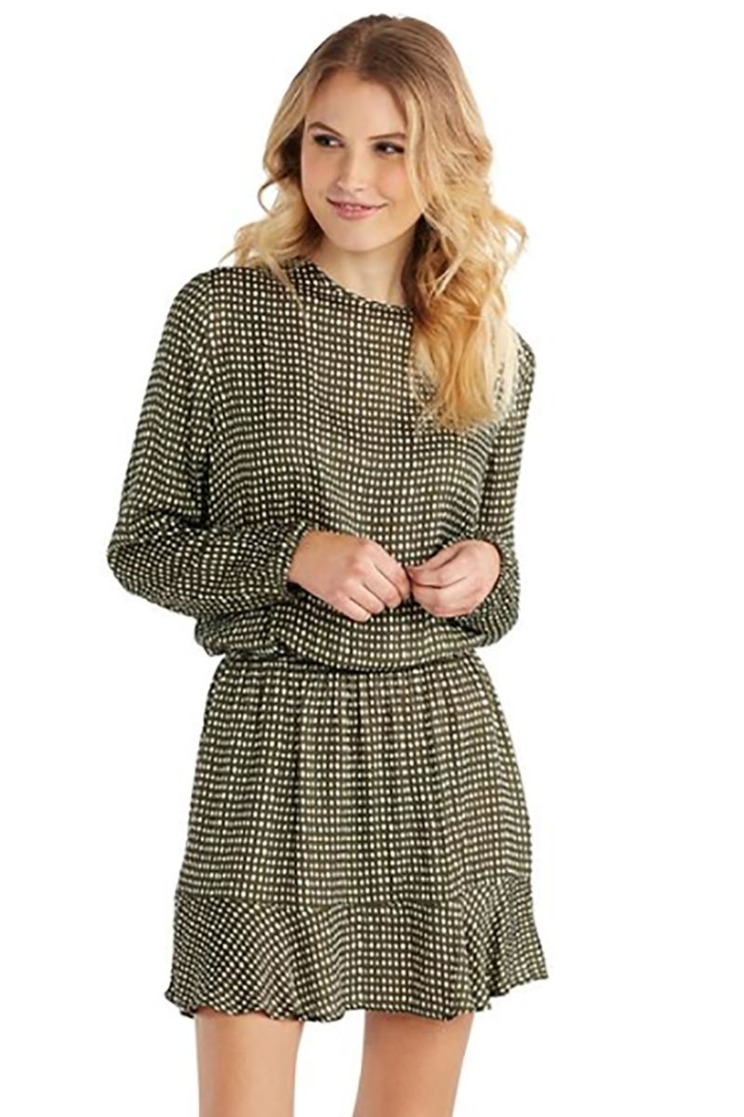 Mud Pie Green Flounce Dress - Front Cropped Image