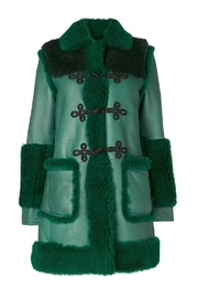 Philosophy di Lorenzo Serafini Green Fur Coat - Product Mini Image