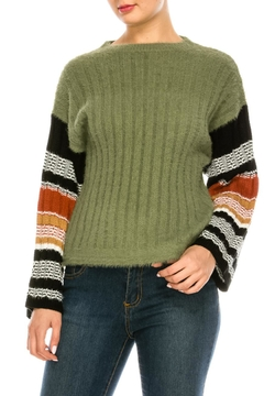 Shoptiques Product: Green Fuzzy Sweater