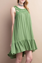 easel Green Gauze Dress - Product Mini Image