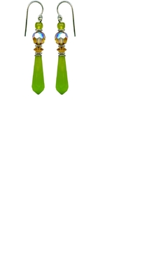 Shoptiques Product: Green Glass Earrings