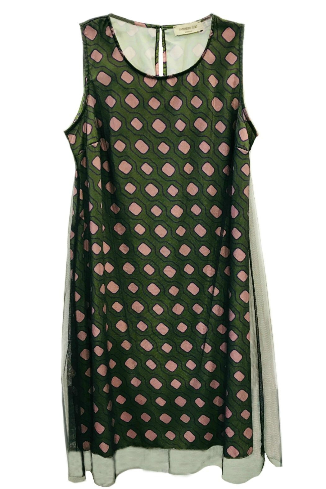 ANTONELLO SERIO Green Graphic Dress - Main Image
